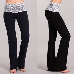 Black Lace Comfy Lounge Pants